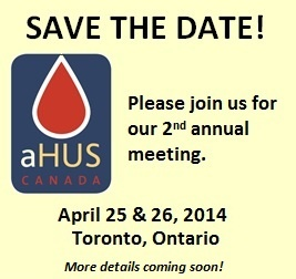 Save the Date - aHUS event